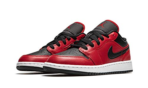 Nike Juniors Air Jordan 1 Bajo Gym Rojo - 553560605 - Gym Rojo Negro Blanco, color Negro, talla 38 EU