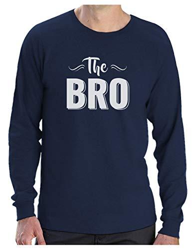Cadeau frere idees Cadeaux Homme Tee Shirt The Bro T-Shirt Manches Longues Homme Medium Marine