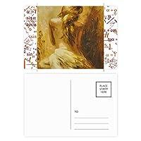 ブロンドのベイビーは、女の子の背中のかわいいギャル 公式ポストカードセットサンクスカード郵送側20個