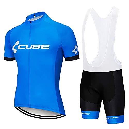 Completo Abbigliamento Ciclismo Uomo Estivo Maglia Bici MTB Maniche Corte e Pantaloncini Corti 3D Cuscini Imbottiti