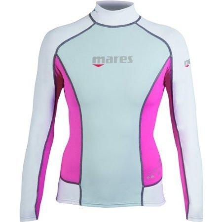 Mares Women's She Dives Trilastic Rash Guard Shirt Long Sleeve - Black/Pink - 6