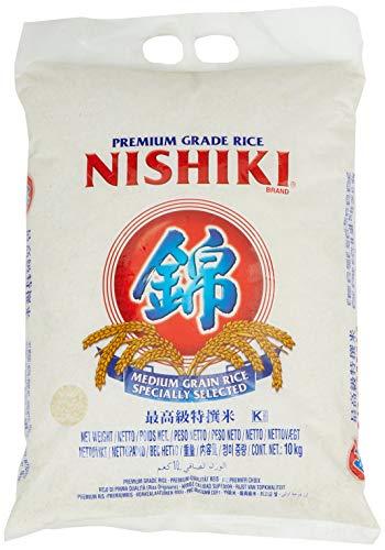 NISHIKI Rice (Medium Grain), 1er Pack (1 X 10000 g)