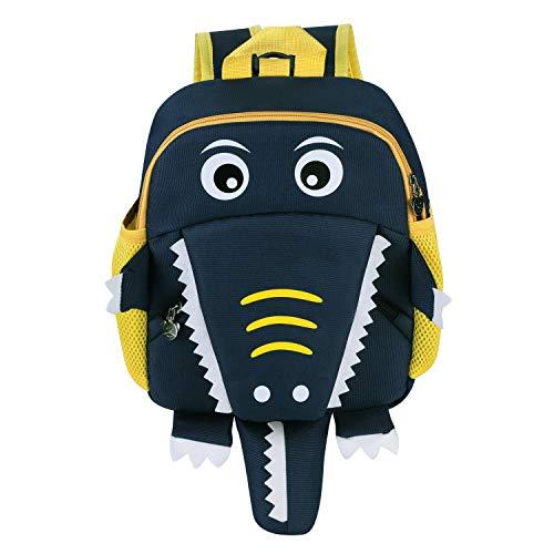 Sac Ecole Scolaire Motif Crocodile Sac à Dos Maternelle Enfant Bébé Cartable Garderie Oxford Imperméable Sacoche Préscolaire Bébé Cartable Crèche 3D Mignon Sac à Dos Primaire Fille Garçon