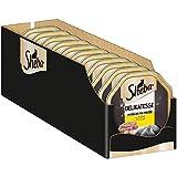 Sheba Delikatesse in Gelee – Hochwertiges Katzen Nassfutter – Geschnetzeltes in der praktischen Schale – Alleinfuttermittel