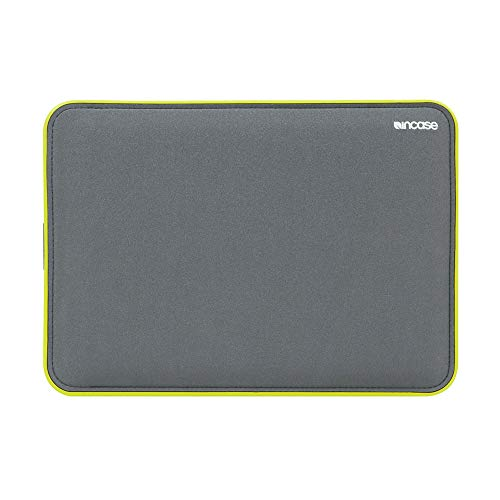 Incase ICON Sleeve Protective Case for Apple MacBook Air 11 Inch - Grey/Yellow [TENSAERLITE Material I Faux Fur Interior I Magnetic Closure] - CL60585