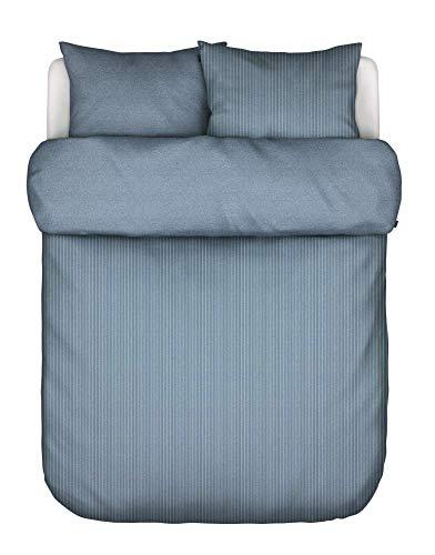 Marc O Polo Biancheria da letto in flanella Kurimo Soft Blue 1 copripiumino 155 x 220 cm + 1 federa 80 x 80 cm