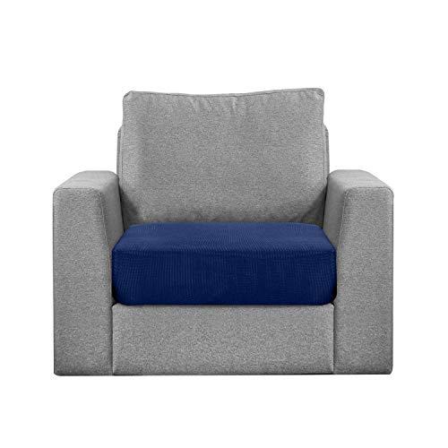Granbest Funda de cojín de asiento hidrófugo para sofá, funda de asiento de sofá extensible en tejido jacquard (1 plaza, azul oscuro)