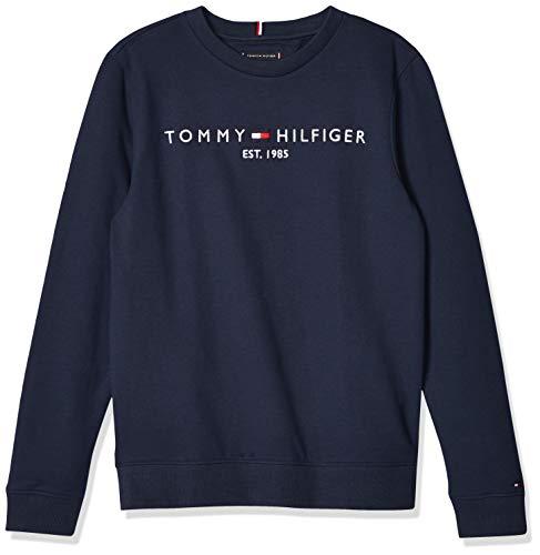 Tommy Hilfiger Essential Logo Sweatshirt Maglione, Blu (Twilight Navy), 86 Bambino