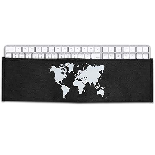 kwmobile Funda Protectora para Teclado Apple Magic Keyboard con Teclado numérico - Cubierta para el Polvo o Salpicaduras con Mapa del Mundo