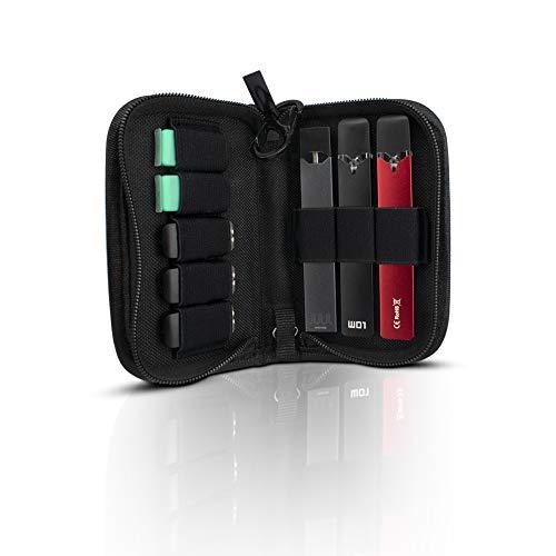 E-Cigarette Carry Bag Travel Case for Pod System Juul Vape Kit, Cartridges(Not include the device) (Black)