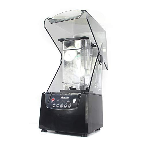 Soundproof Blender, 110V 2600W 1.8L Commercial Fruit Juice Smoothie Maker With Shield Quiet Sound Enclosure for Puree, Ice Crush, Shakes and Smoothies