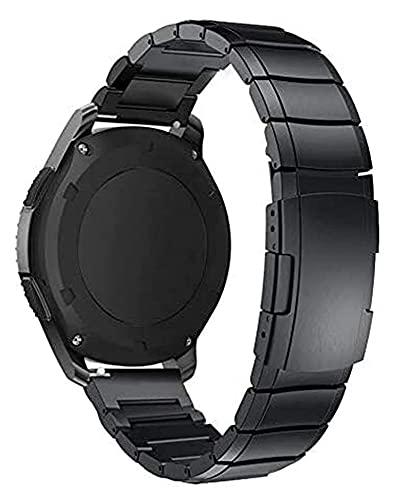 Jsmhh Reloj Strap 22mm 20mm Watch Band para Samsung Galaxy Watch 42 46mm Correa de Acero Inoxidable Engranaje S3 Pulsera (Color : Silver, S : 22mm)