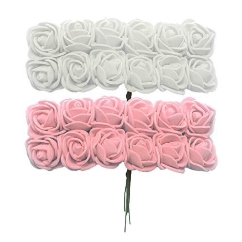 non-brand Baoblaze Lot de 288 Fleur de Mousse Artificielle Bouquet Fleur de Mousse avec Tige pour Fabrication de Boules de Pomandre