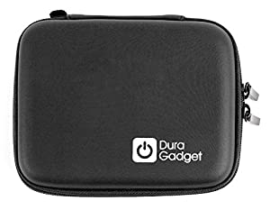 DURAGADGET Black Hard Shell Carry Case - Compatible with With e-Cigarettes & Accessories