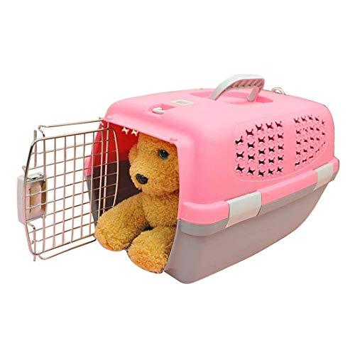 Aviation Katzenkäfig for Katze/Hund (Top mit Nein Schiebedach Belüftungsöffnungen) Klein, Größe: 54 * 35 * 35cm (Pink) Huangchuxin (Color : Pink)