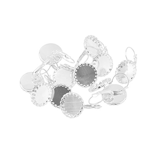 Sharplace 20pcs Fil Cerceau Cr/éole Fermoir Boucle doreille Bijoux DIY Artisanat Argent