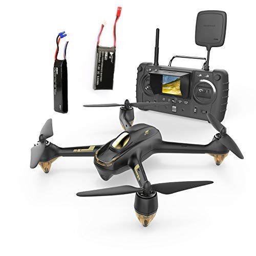 Hubsan H501S X4 Pro Brushless FPV Drone GPS avec Caméra 1080P HD 5.8Ghz Mode sans Tête Une-clé Retour Maintien d'Altitude Follow Me High Edition (H501S Noir)