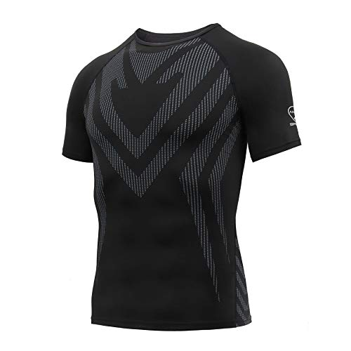 AMZSPORT Camisa de Compresión Deportiva para Hombre Camiset