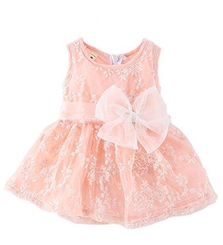 yomiyoka bebé niñas flores boda Princesa Bowknot Vestido de fiesta Rosa rosa