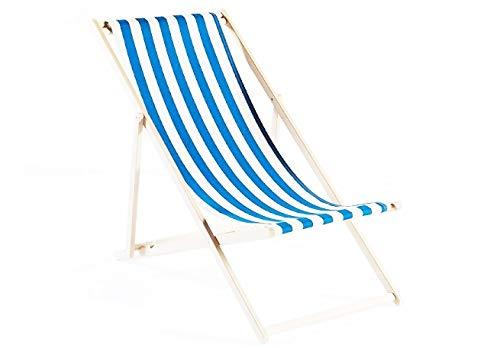 Sedia a sdraio pieghevole per giardino in miniatura, scala 1:12, a strisce bianche e blu, stile retrò, per giardino delle fate