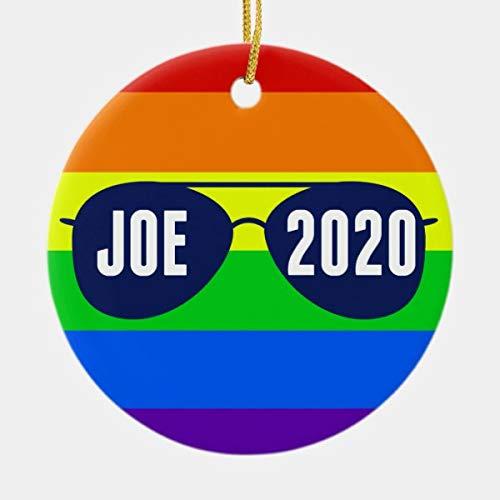 Diuangfoong Cool Joe Biden 2020 Rainbow Gafas de sol de cerámica adorno