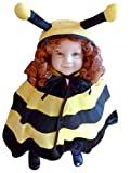 Dimensioni 9M-3A (74-98cm). Grande Ape Bee Cape! Il Capo è comodo da indossare sopra gli indumenti normale. Particolarmente adatto per il carnevale di strada. Il costume è costituito da un mantello con cappuccio. Materiale: 100% poliestere. Il nostro...