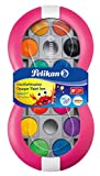 Pelikan 700016 Deckfarbkasten Space+, 24 integrierter Mischpalette, Farbe: Magenta, 1 Stück, Bunt