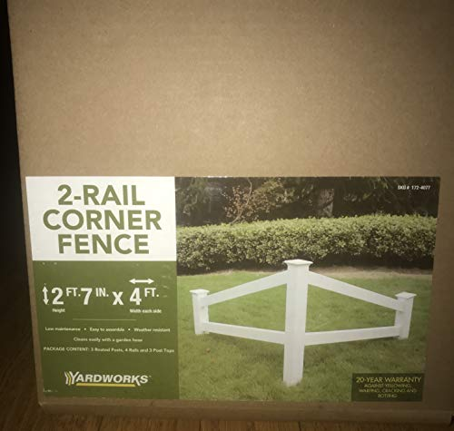 2 Rail Corner Decorative Fence