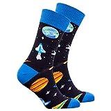 Socks n Socks-Men's Luxury Cotton Colorful Funky Space Socks