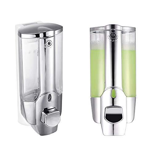 Vvciic Dispensador de jabón, dispensador de desinfectante de manos montado en la pared, dispensador de desinfectante manual de 350 ml, líquido antibacteriano, dispensador de champú para cocina, baño