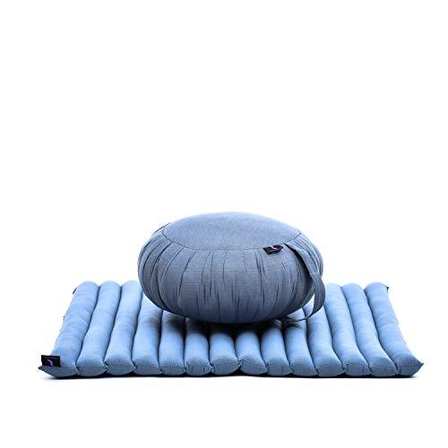 Leewadee Meditationskissen Set Sitzkissen Rund Zafu Yoga Kissen Zabuton Yogakissen Meditationskissen Meditation Zubehör Yoga Sitzkissen Yoga...
