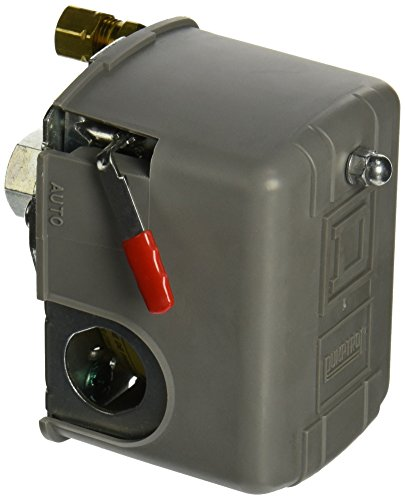 Square D by Schneider Electric 9013FHG12J52M1X Air-Compressor Pressure Switch, 125 Psi Set Off, 30 Psi Fixed Differential, 1/4' Npsf Internal, 2-Way Release Valve, Auto/Off Cut-Out Lever