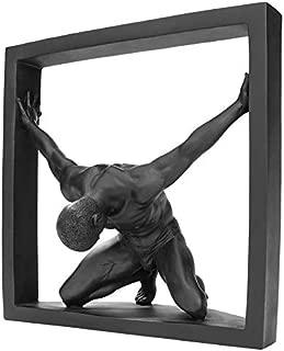 Design Toscano Boxed in Modern Male Nude Statue, Black