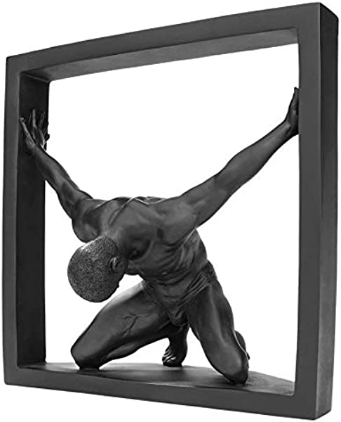 Design Toscano Boxed In Modern Male Nude Statue Black