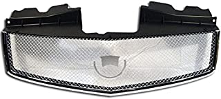 Front Grille Compatible With 2003-2007 Cadillac Cts   Mesh style ABS Plastic Chrome with Stainless Steel Mesh Bumper Hood ...