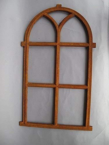 linoows Eisenfenster, Fenster, Stallfenster, Gusseisen Fenster mit Halbrund Oberlicht