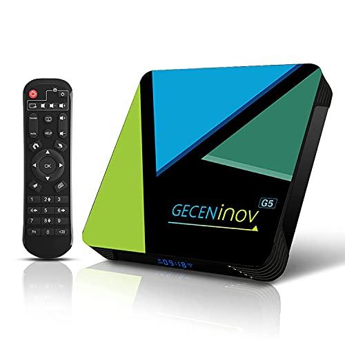 Smart-TV-Box, Bluetooth-TV-Box, Android 10.0 TV-Box, 4 GB RAM / 64 GB ROM 3D 4K @ 30fps...
