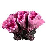 YARNOW Decoraciones de Peceras de Coral Artificial Ornamento de Plantas de Acuario de Plástico Rojo Arrecife de Coral Acuario Ornamento de Paisaje Realista Planta Submarina