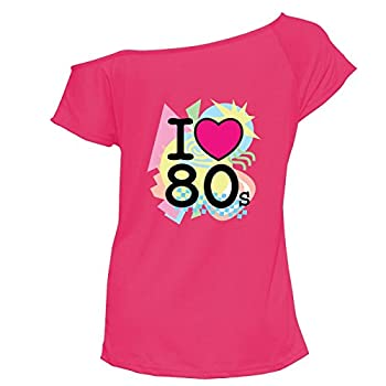 Pink I Loveheart the 80s T-shirt by YTHH Fashion
