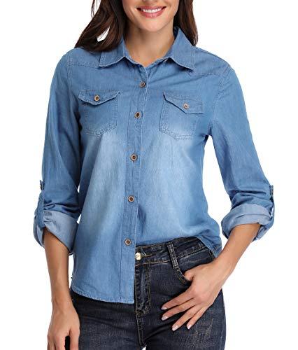 Camisas para Mujer Blusas de Mezclilla