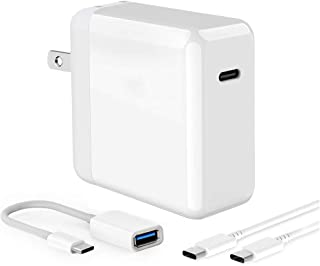 USB C Power Adapter 45W PD Wall Charger for iPad Pro 2018 12.9, 11, MacBook Pro/Air/12 inch,Phone,Samsung. Aolerx USB C Adapter with Foldable Plug & USB Type C to USB A Adapter, 6.6ft USB C-C Cable