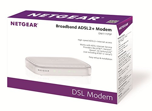 Netgear Broadband ADSL2 Plus Modem (DM111PSP-100NAS)
