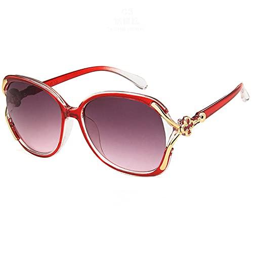 WQZYY&ASDCD Gafas de Sol Gafas De Sol De Gran Tamaño De Calidad para Mujer, Gafas De Sol para Mujer, Gafas De Sol Grandes para Mujer, Lady-E