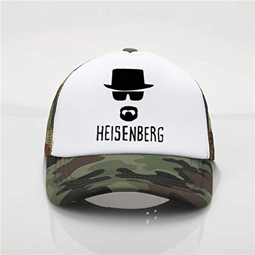 Baseball Kappe Fashion Net Cap Heisenberg Printing Baseball Cap Men Women Summer Trend Cap New Youth Joker Sun Hat Beach Visor Hat Camouflage