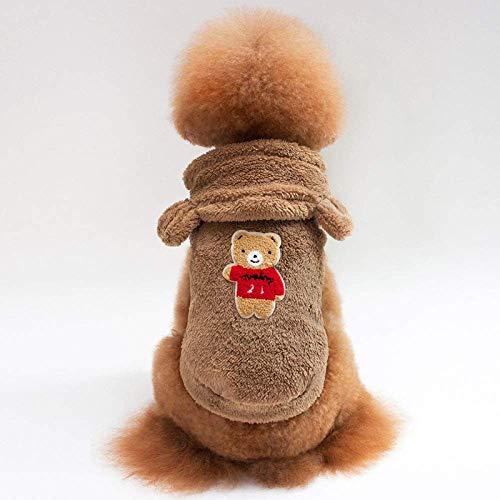 Chunjiao Cucciolo di cane vestiti dell'animale domestico, vestiti del cane Fleece Jacket Brown Coat Pet abbigliamento for cani animali vestiti Chihuahua Pet Costume vestiti for i cani Costume, Xl Abbi