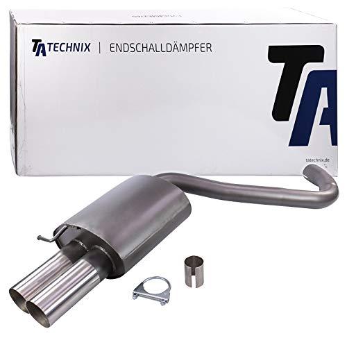TA Technix Sportendschalld/ämpfer 2x76mm Fiat Punto II