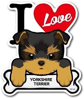 PET-045 YORKSHIRE TERRIER ヨークシャー・テリア DOG STICKER ドッグステッカー 車 犬 イラスト アイラブ ペット 愛犬