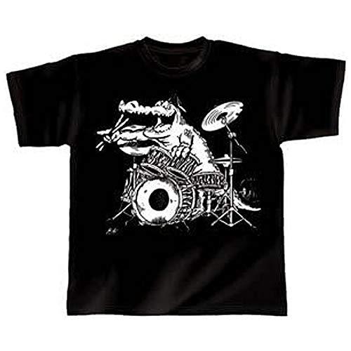 """Rock You Drummer T-shirt """"Croco"""" Taille XXL Cadeau pour musiciens"""