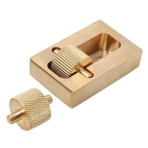 Baoblaze Brass Dye Oil Box Tool, Hand Tools, Double-Roller, Save Oil,