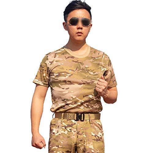 FACAI Camiseta de Combate de Estilo Militar para Hombre,11-3XL